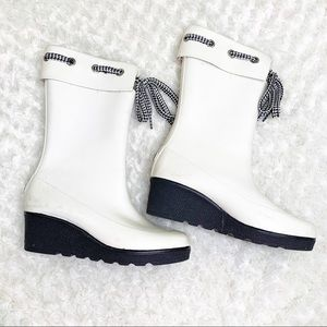 Sperry High Knee Rubber Rain Boots Size 10